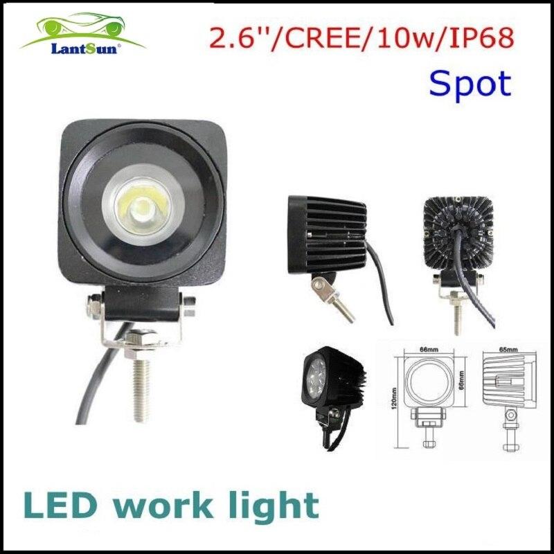 1 PC lantsun NLED810 small auto lmap 6000K waterproof  3 inch 10w cree led pod working light fits motocycle auto truck ATV SUV <br><br>Aliexpress