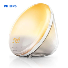 Philips Wake-up Light Coloured Sunrise Simulation 5 Natural Sounds FM radio & Reading lamp Tap Snooze HF3520/70