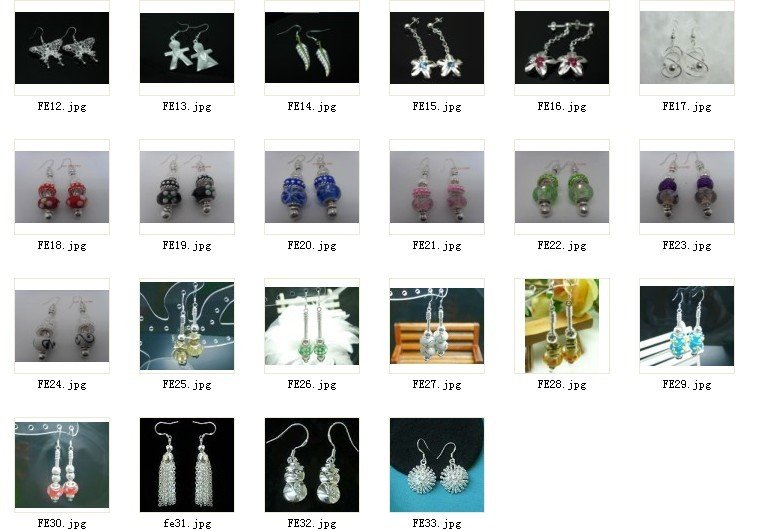 Wholesale  fashion jewelry ,925 Silver earrings  . Nice Jewelry. good quality   FE0072