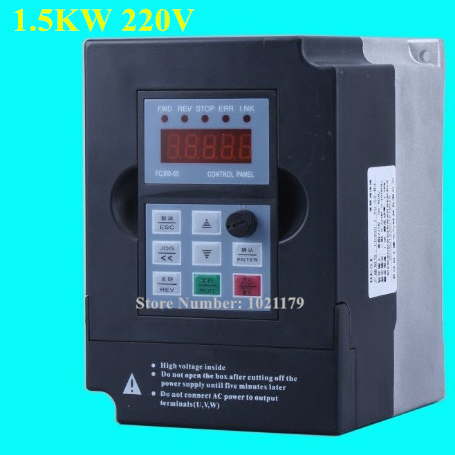 220V 1.5KW CNC Spindle Motor Converter AC 220V 50 60HZ 7A 1 Phase CNC Router Spindle Frequency Inverter Engraving Machine