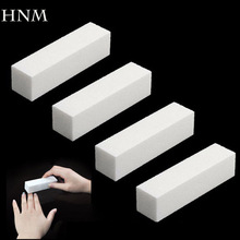 HNM 4Pcs/Lot Sanding Sponge Nail File Buffer Block for UV Gel Nail Polish DIY Nail Art Manicure Pedicure White Nail Buffers File(China)