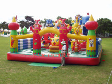 2017 Kids Inflatable Children Bouncy for Jumping kids inflatable amusement park Inflatable fun city for sale(China)