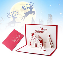 Christmas Cards 3D Pop Up Merry Christmas Series Santa's Handmade Custom Greeting Cards Christmas Gifts Souvenirs Postcards