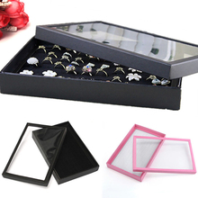 100 Slots Ring Jewelry Display Tray Show Case Organizer Box Storage Holder