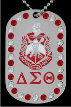 DST   Greek Double Sided   Delta Sigma Theta Sorority  dog Tags custom   logo  Jewelry necklace