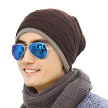 Freeshipping New Fashion Rhombus Pattern Tricorne Knit Winter Warm Crochet Hat Braided Beanie Cap