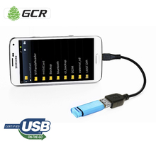 GCR Micro USB OTG Cable Black USB OTG Adapter USB Cable For Smartphone Tablet Android Meizu Xiaomi Samsung LG Sony HTC