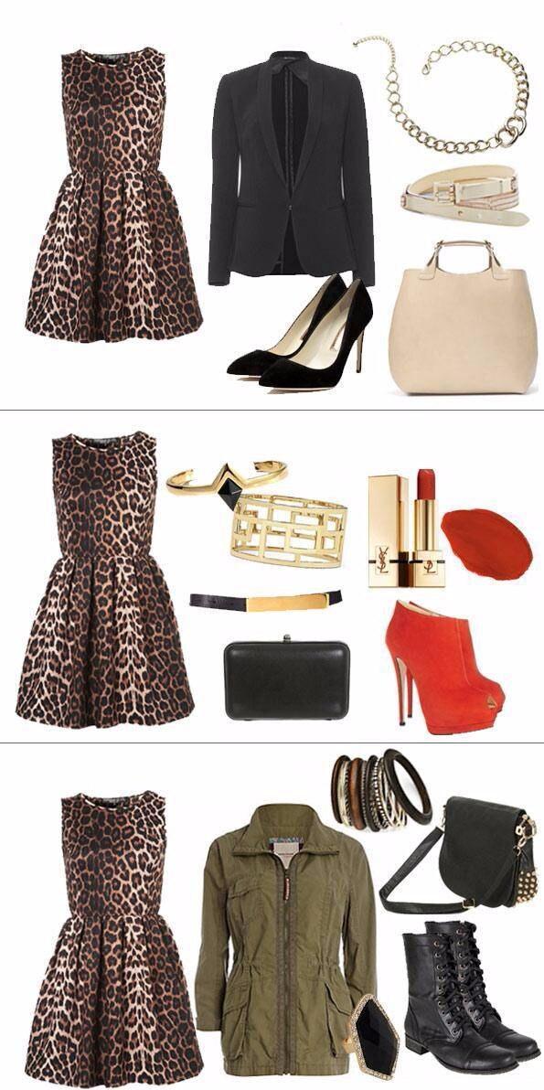 Аксессуары к леопардовому платью