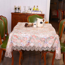 New Classical Style Polyester and Satin flower embroidery Table Cloth Tablecloth Table Cover High Quality  Free Shipping#S714
