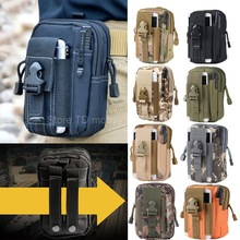 Outdoor Tactical Waist Belt Military Sports Molle Bag Case for Phone/iPhone 7/6/Oneplus 3/3T/Xiaomi mi5/redmi 4/4x/4A/3/LG g6/g5