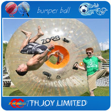 free air shipping to door,outdoor cheap inflatable body air zorb,water/grass/snow human hamster zorb ball(China)