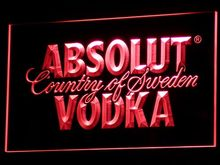 a025 Absolut Vodka Country of Sweden LED Neon Light Sign Wholesale Dropshipping On/ Off Switch 7 colors DHL