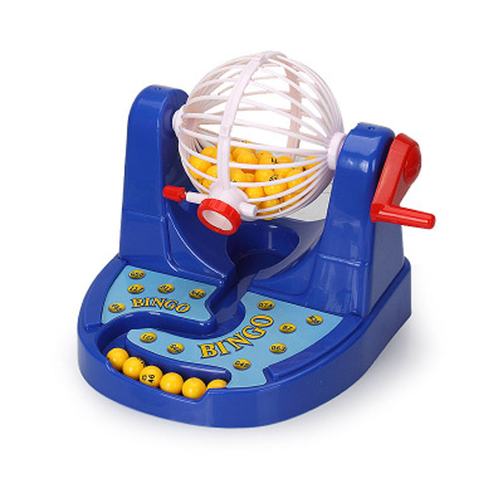 Children Educational Toy Mini Bingo Game Machine Ernie Lottery Machine Fun Puzzle Desktop Toys Family Board Games Kids Present