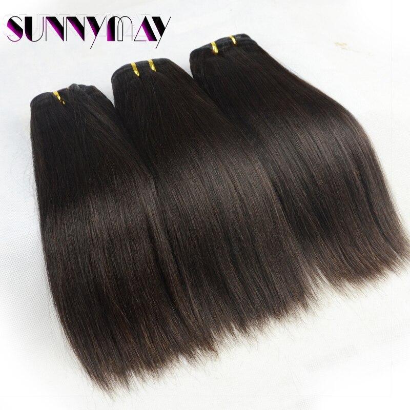 Sunnymay 8A Unprocessed Brazilian Virgin Human Hair 3 Pcs/Lot Yaki Straight Hair Weave Bundles Yaki 10-28 Straight Human Hair<br><br>Aliexpress