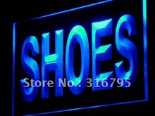 i999 Shoes Supplier Shop Display Metal LED Light Sign On/Off Swtich 7 Colors