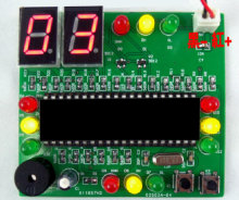 51 SCM traffic light kit electronic production suite DIY electronic parts production provides the source program
