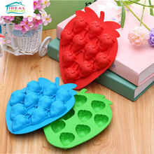 Creative Strawberry Shape Ice Cube Tray Freeze Mold Ice cream Jelly Maker Mould Refrigerator Tools