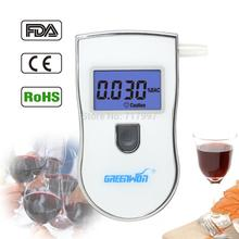Send 10 mouthpiece Professional Police Black Digital LCD Alcohol Breath Analyzer Detector Breathalyzer Tester Test AT-818