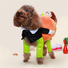 S-XL Dogs Clothes Pumpkin Human Shaped Dog Costume Funny Cosplay Pet Clothing For Party Festival Performance 2016 New