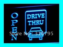 i145 OPEN Drive Thru Displays Motel LED Neon Light Signs On/Off Switch 7 Colors