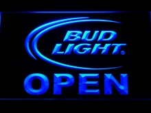 025 Bud Light Beer OPEN Bar LED Neon Light Sign Wholesale Dropshipping On/ Off Switch 7 colors DHL