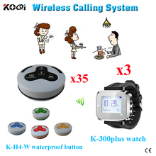 Ycall brand wireless restaurant waiter calling system long range pager system(China)