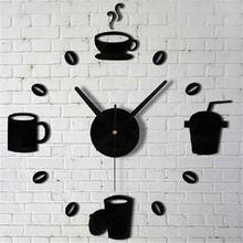 2017 Fashion DIY Large New Acrylic DIY Self Adhesive Interior Wall Creative Decoration Clock Trendy New Fashion