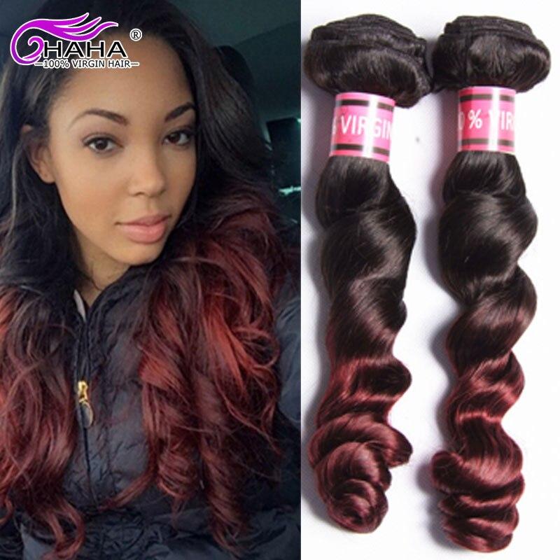 5 Bundles Ombre Peruvian Hair Loose Wave Ombre Virgin Hair Peruvian Loose Wave Ombre Hair Extensions 2 Tone Human Hair Weave GEM<br><br>Aliexpress