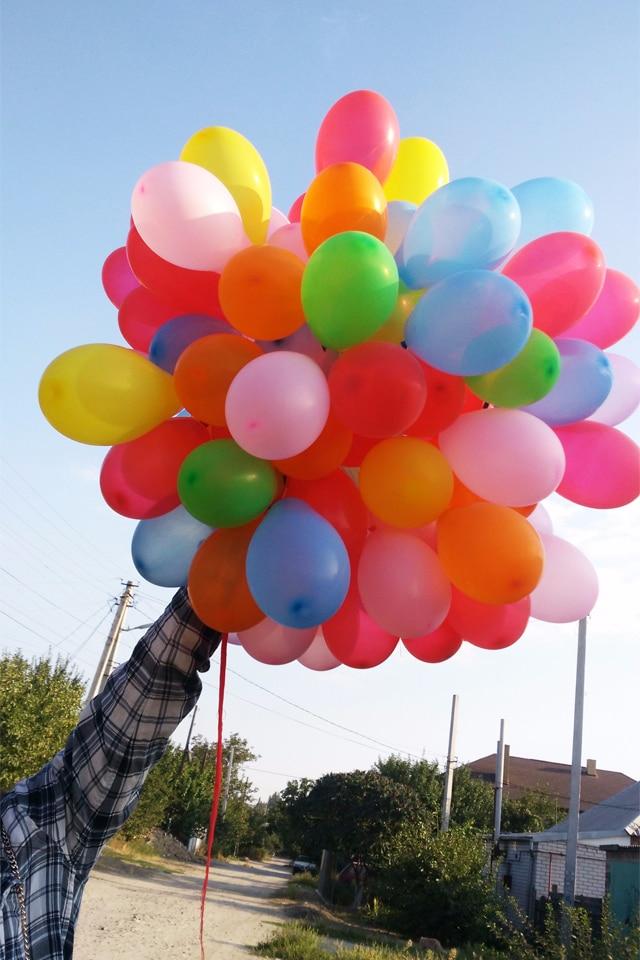 Запуск 100 шаров