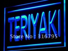 j209 Teriyaki Cafe Shop Food OPEN LED Light Sign Wholeselling Dropshipper On/ Off Switch 7 colors DHL