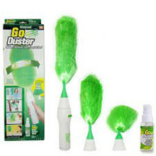 1 Set New Dust Cleaning Brush for Blinds Furniture Electronics Multifunctional Electric Green Feather Dusters