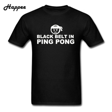 XS-XXXL Men Tee Black Belt In Ping Pong T Shirt Man 100% Cotton Tops Short Sleeve Plus Size Geek T Shirts For Guys Clothes