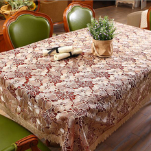 toalha de mesa Pastoral style Glass yarn Flower Lace Embroidery Table Cloth Tablecloth Table Cover High Quality#S712