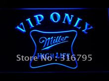435 VIP Only Miller Hight Life Beer LED Neon Light Sign Wholesale Dropshipping On/ Off Switch 7 colors DHL