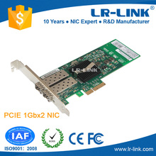 LR-LINK LREC9702EF -2SFP PCI Express x4 Dual Port SFP Gigabit Network Interface Card NIC (Intel 82576 Based)