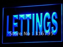 i104 Lettings Property Agency Display LED Light Sign On/Off Switch 7 Colors