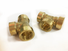 "free shipping Copper pipe fitting G3/8"" female tee brass Pipe fitting, plumbing brass fittings, copper three contact"