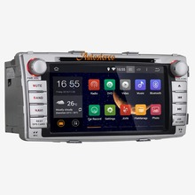 the Latest Quad-core Quad Core Android 5.1  Car DVD Player Multimedia Headunit For Toyota Hilux 2012+