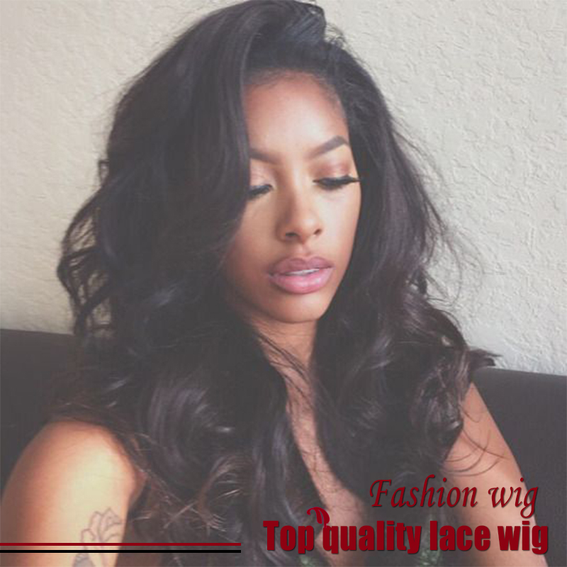 2017 Hot Sale Brazilian 180% Density Bady Wave Wigs Black Wig Glueless Synthetic Lace Front Wigs Heat Resistant For Black Women<br><br>Aliexpress