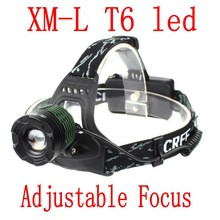 CREE LED Headlamp 3 Modes Adjustable Focus Zoomable Headlight Waterproof for Outdoor 18650 Rechargeable Batteries Charger(China)