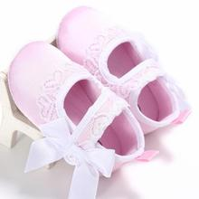 2017 Baby Girl Butterfly White Red Black Lace Shoes First Walkers Sneaker Anti-slip Soft Sole Toddler Shoes chaussure fille