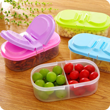 Bunk Clamshell Fruit Snacks Refrigerator Preservation Sealed Crisper Plastic Food Storage Box Container
