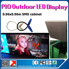 TEEHO Outdoor 3535SMD RGB P10 LED display  panel 38x38 inches waterproof led video panel p10 outdoor smd with airplug cables