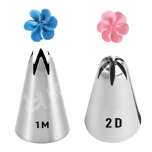 2 Different Kinds Metal Drop Flower Tips Cake Nozzle Cupcake Sugar Craft Icing Piping Nozzles Pastry Tool Kitchen Accessories