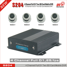 DTY S204-4GW 4 Channel H.264 live view SD Car Vehicle Mobile DVR 4CH Audio Record GPS/4G optional