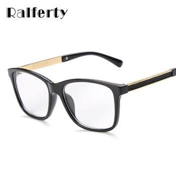 Homem mulher óculos de armação armações de óculos para miopia vew ralferty plica olho óculos espelho simples espetáculos de vidro preto do vintage