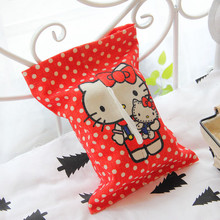 Cartoon Hello Kitty Home/Car  Tissue Box Case Holder Removable Paper Napkin Creative Home Decor Tissue Boxes Container Pouch