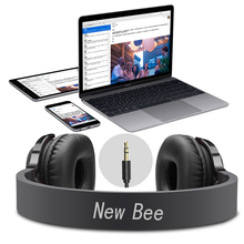 New Bee NB-6 Bluetooth Headphone Stereo Wireless Sport Headset with Mic NFC App Pedometer Earbud Stand Case for Phone PC TV