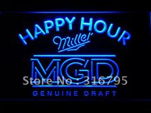 632 Miller MGD Beer Happy Hour Bar LED Neon Light Sign Wholesale Dropshipping On/ Off Switch 7 colors DHL