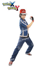 Anime Pokemon X and Y Ash Ketchum Cosplay Costume Unisex Clothing